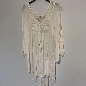 Forever 21 peasant bell sleeve dress